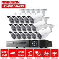 ホーム 16CH 監視システム 16 4MP 屋外セキュリティカメラ 16CH CCTV DVR キットビデオ監視 Iphone アンドロイドリモートビュー