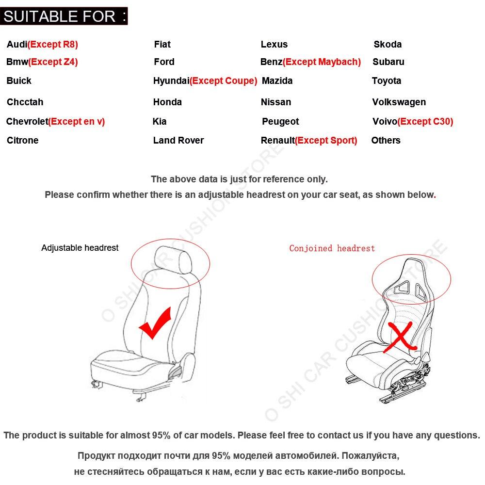 2 pièces tapis de couverture protéger le coussin de siège de voiture universel/O SHI housses de siège de voiture pour Kia etc. la plupart des véhicules à moteur intérieur, camion, Suv ou Van - 6