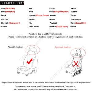 Image 5 - 2 uds. Funda protectora para asiento de coche Universal/O SHI fundas para asiento de coche que se adaptan a la mayoría del interior automotriz, camión, Suv O furgoneta