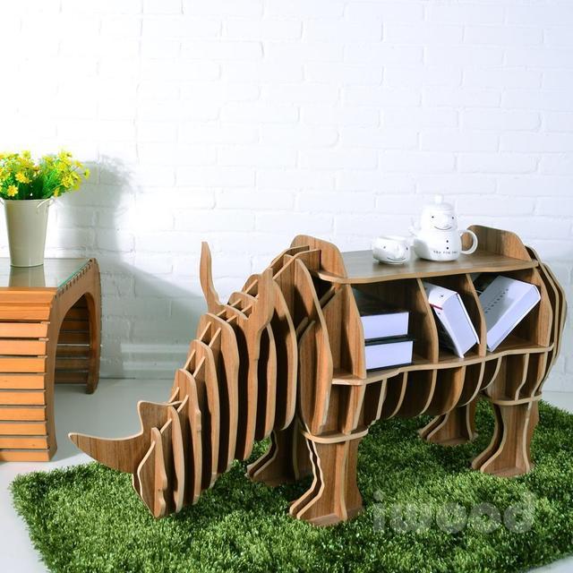 Творческий модель мебель собраны носорог персонализированные украшения практическая стеллажи журнальный столик / столик / консоль табл
