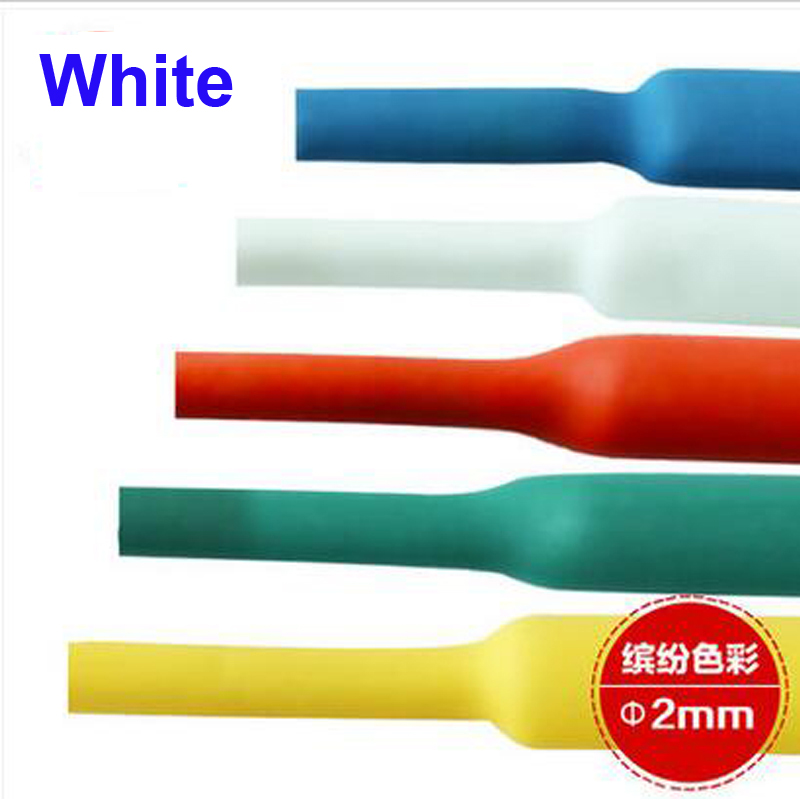Dia Ratio 2:1 0.5mm Black Polyolefin Heating Shrinkable Tube 125C 10m