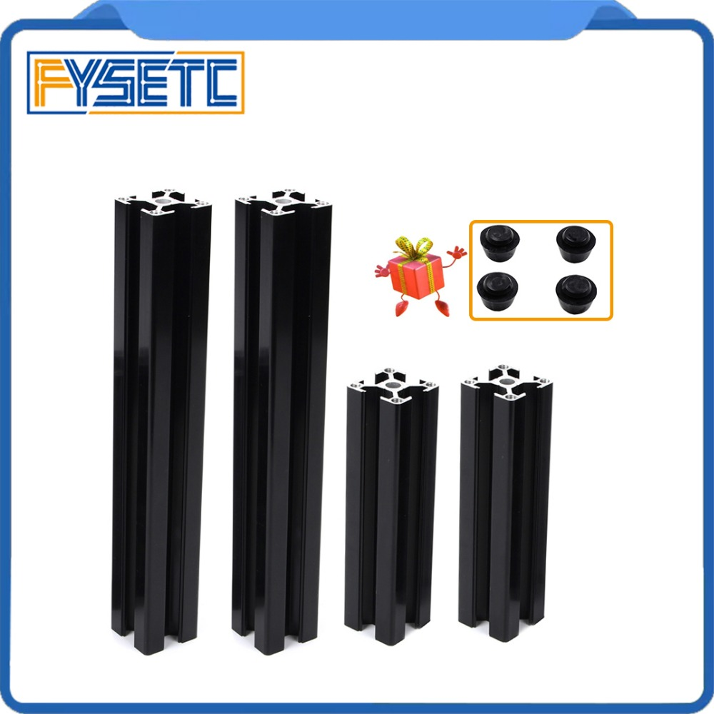 1Set Black Aluminum Profile Prusa I3 MK3 Aluminum Extrusion Profile 3030 30*30 For Haribo Edition Prusa I3 MK3 3D Printer