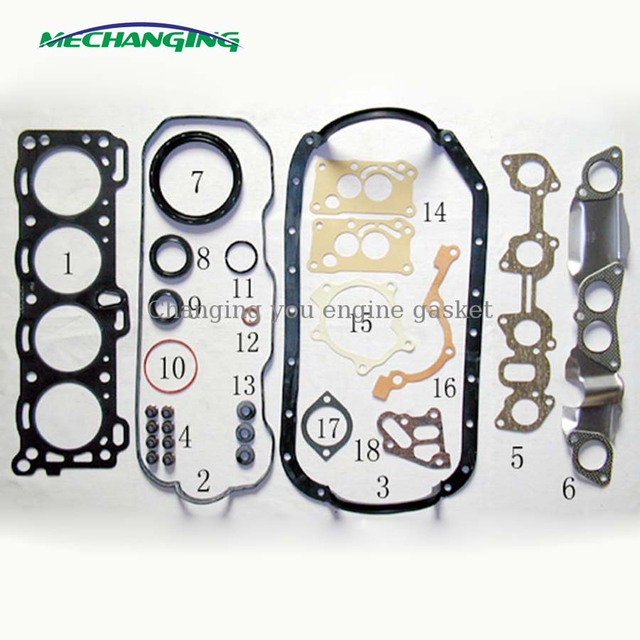 For ISUZU PICKUP 4ZB1 Engine Parts Overhaul Package Auto Parts Full Set  Engine Gasket 5
