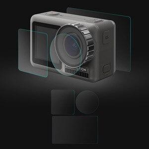 Image 5 - 1 ensemble de Film Pet clair trempé double écran pour DJI OSMO + protecteur dobjectif pour DJI OSMO accessoires de caméra daction ultra mince L0525 DJ