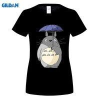 GILDAN tarafından yağmurda Totoro şemsiye Tasarım T Shirt Erkek Hayao Miyazaki Sevimli Anime Karikatür Totoro kadın T-Shirt