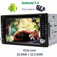 Android 7.1 ПК автомобиля 2din GPS dvd плеер бортовой компьютер для автомобиля GPS Навигатор Bluetooth Радио стерео Поддержка ТВ, DVR + камера заднего вида