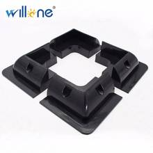 Willone free shipping 2 lots 4pcs black ABS solar panel mounting kits for RV/Caravan