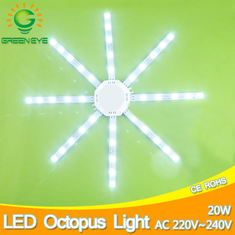 20W LED Ceiling Lamp Modified Light Source Lamp Plate Octopus 5730SMD White For Round Kitchen Bedroom Accessory Absorb Replace