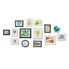 Europe Style 14 pcs/set White Wood Photo Frame Art Home Decor Set Creative Combination Wall Picture