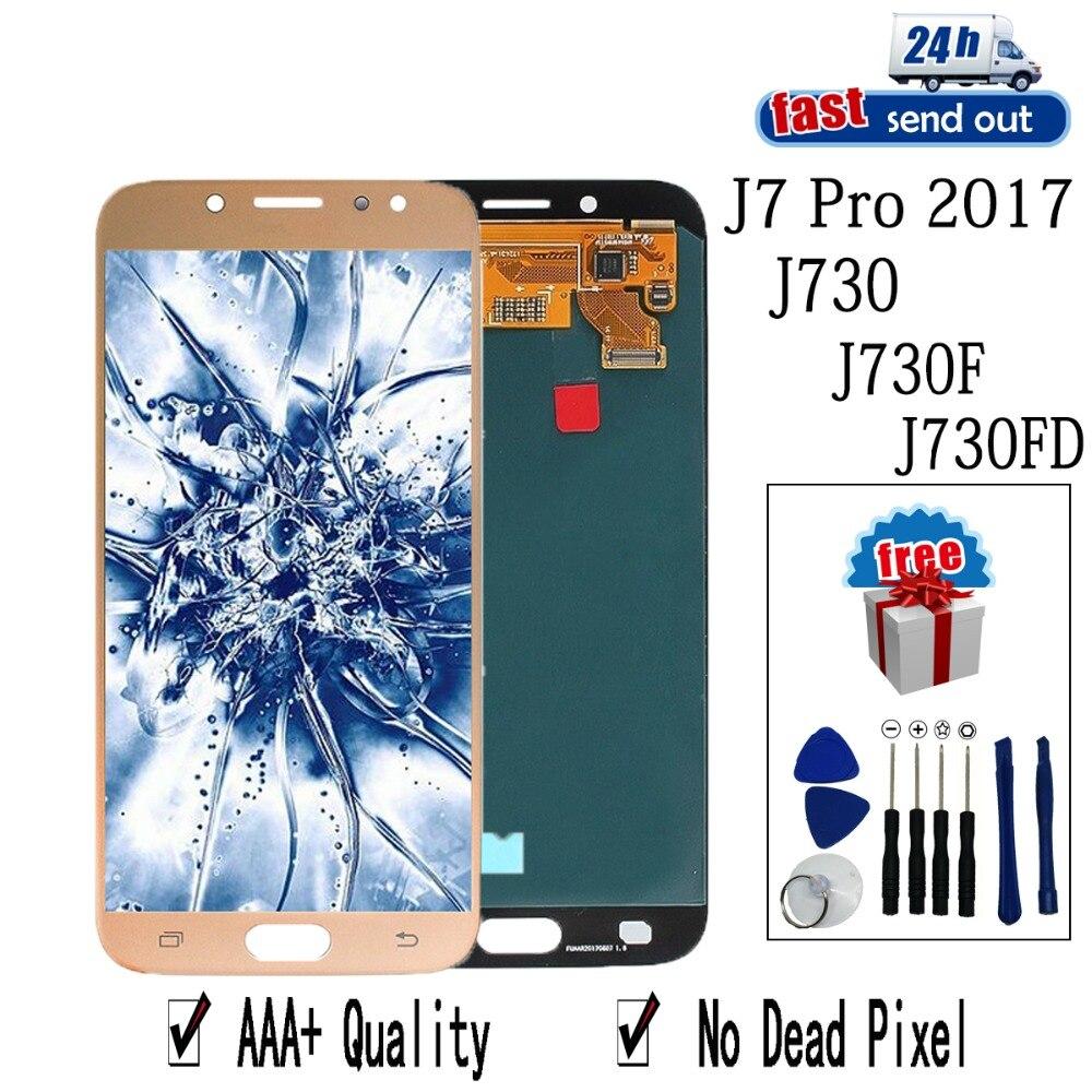 AMOLED LCD pour SAMSUNG Galaxy j7 Pro 2017 écran LCD j730 j730F j730FD écran tactile testé numériseur assemblée