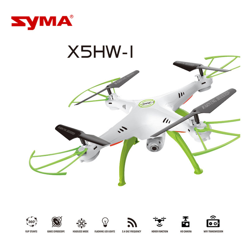 Hot Sale SYMA X5HW RC Helicopter 4CH 2.4G 6-Axis Remote Control 0.3MP HD Camera Mini Drone