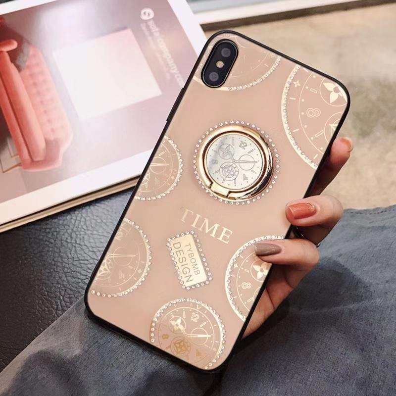 XS Max Magnetic Clock Case For iPhone XR XS Max 8 7 6 Plus for Iphone XS Xr Xs max Soft TPU Case 360 Rotating Finger Ring Cover