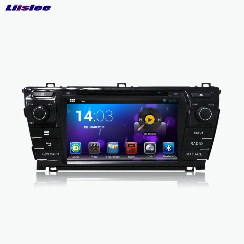 Liislee для Toyota Corolla 2014 dvd-плеер автомобиля мультимедиа аудио-видео Радио GPS навигации Multi-Сенсорный экран Bluetooth стерео