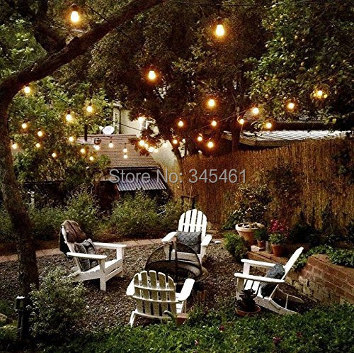 4x 25 Ft Clear Globe G40 String Lights Set with 4*25 G40 Bulbs Included Patio  Lights & Patio String Light Bulbs Holiday Lights-in Lighting Strings from  ... - 4x 25 Ft Clear Globe G40 String Lights Set With 4*25 G40 Bulbs