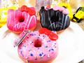 1pcs Licensed Sanrio 10cm Jumbo Hello Kitty Donuts Squishy Sweet Roll Cell Phone Straps Charms Key Chain With Tags Big Sale