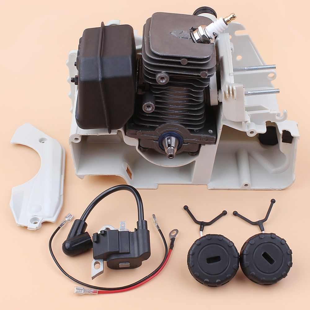 Carter 38mm Cilinder Zuiger Uitlaat Bobine Krukas Top Motor Reparatie Kit Fit Stihl 018 MS180 017 MS170 Kettingzaag