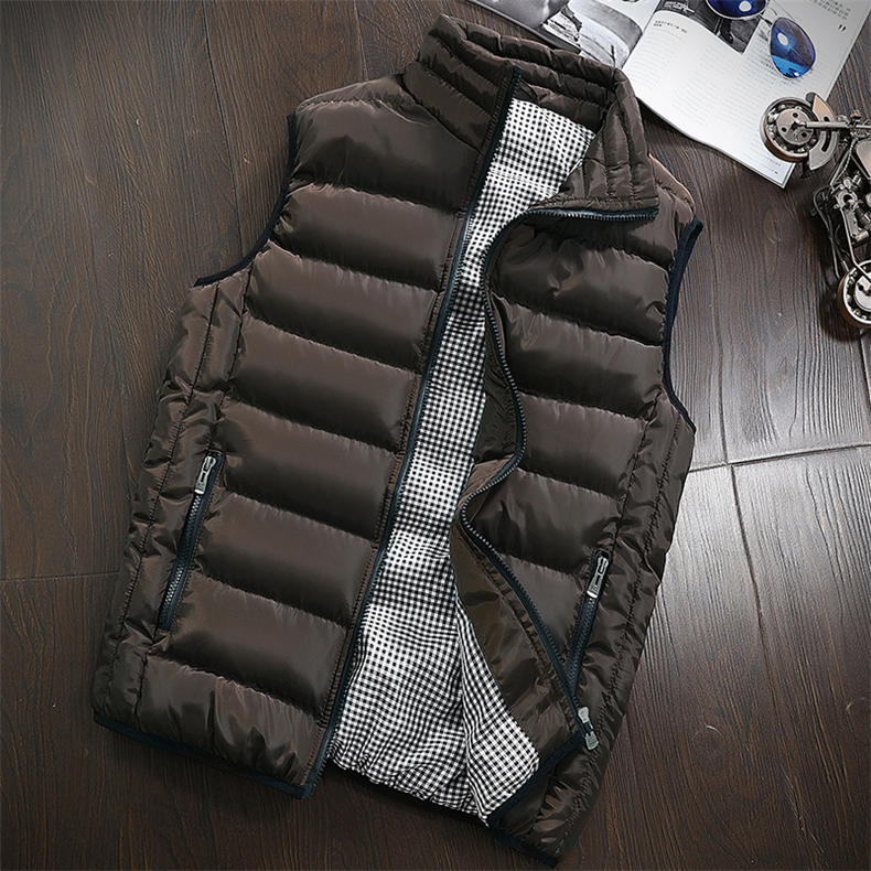 Vest Men 2019 Spring Autumn Male Sleeveless Jacket Coat Lovers Stylish Padded Down Vest Men Waistcoat Brand Cloths Plus Size 5XL 15