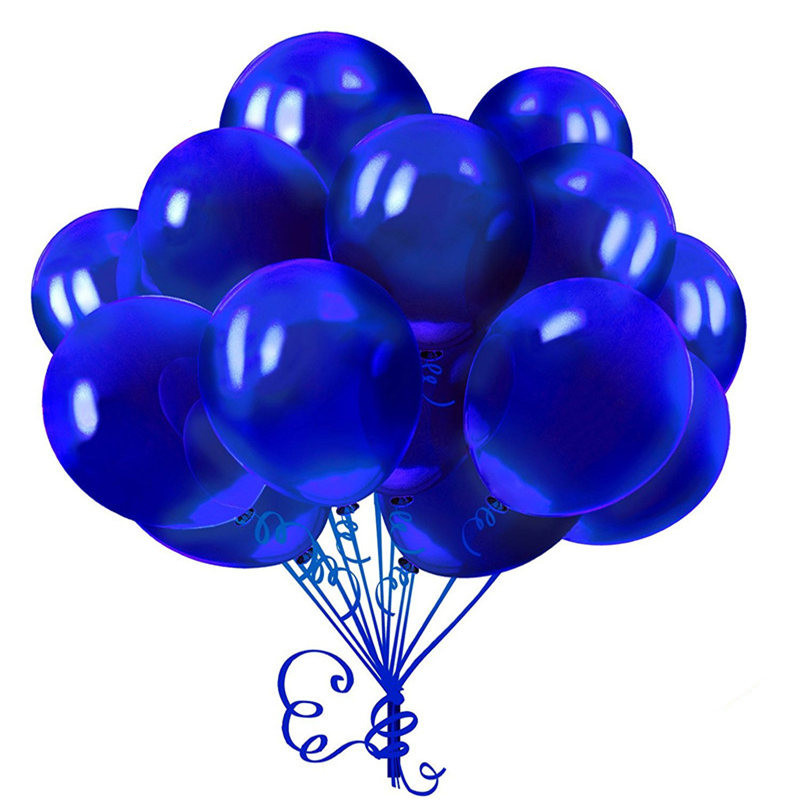 10Pcs 12inch 2.8g Royal blue Latex Balloon Inflatable Air Balls Wedding Decoration Birthday Party Float Balloons Supplies Toys