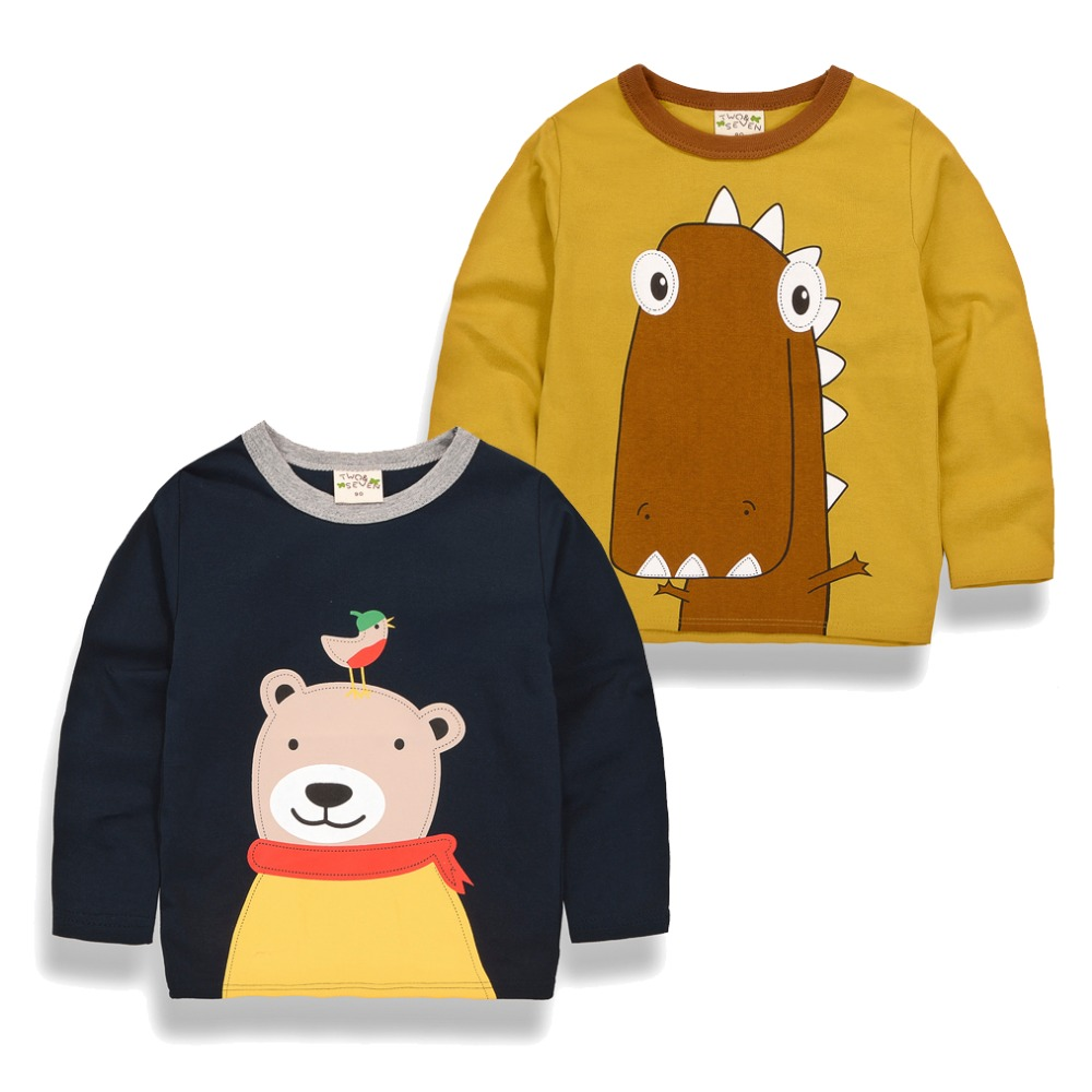 2017 Spring&Autumn Cotton Children Kid T-shirts Cartoon Pattern For Boy Clothes Kids Boys Long Sleeve Tees Clothing Tops T-shirt 2 10 years boys girls clothes minions boys t shirts spring autumn children hoodies cartoon kids clothes casual boys t shirt hot