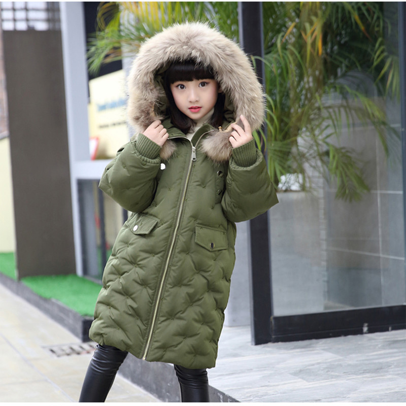 2017 Fashion Girl Winter Down Jackets Children Coats Warm Boy Thick Duck Down Kids Outerwears For Russia Cold -30 degree Jacket russia winter boys girls down jacket boy girl warm thick duck down
