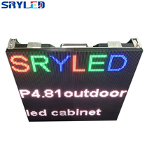 Super Light Weight Outdoor 5,500nits Pixel Pitch 4.81mm Die-casting Aluminum LED Cabinet 500mm x 500mm