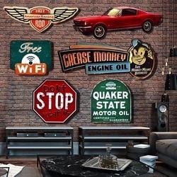 Irregular shade Vintage Tin metal Sign plaque Bar pub home House Cafe Restaurant Wall Decor Retro Metal Art sticker Poster