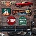 Unregelmäßigen schatten Vintage Zinn metall Zeichen plaque Bar pub hause House Cafe Restaurant Wand Dekor Retro Metall Kunst aufkleber Poster|Tafeln & Schilder|Heim und Garten -