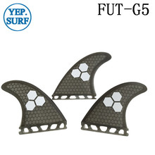 Future G5/K2.1 Surfing Fin Fiberglass Honeycomb Gray Color Fins Customized Surfboard