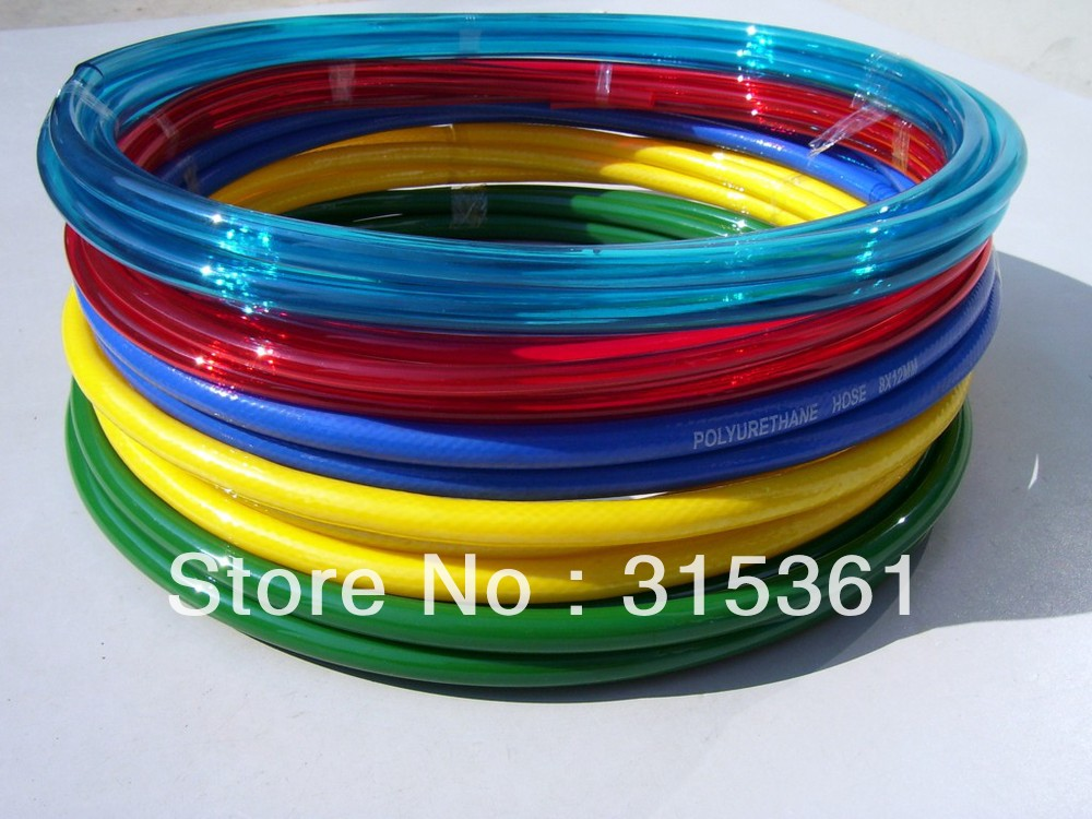 OD Polyurethane PU Tubing 6.5mm ID Red Color for Pneumatics Air Hose