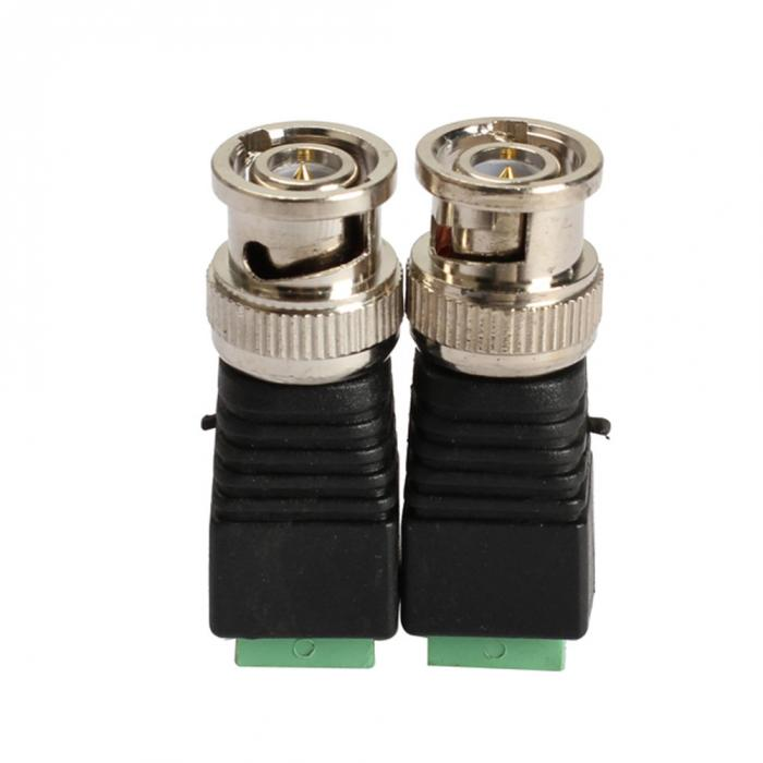 2PCS Mini Coax CAT5 To Camera CCTV BNC Video Balun Connector Adapter POE cctv tester IP camera FC