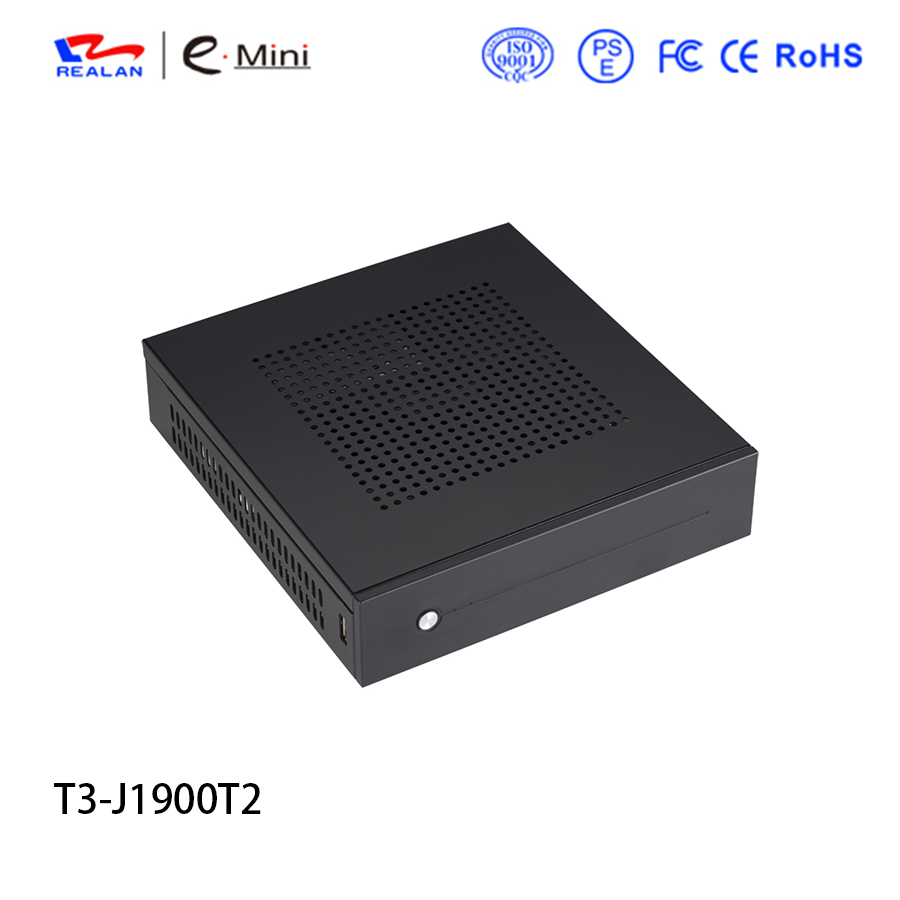 Mini PC Barebone Desktop PC Dual nic With Processor Intel J1900 Quad Core On Board Support Windows 10 Linux mini itx pc windows mini pc barebone x29 j1900 2g ram 16g ssd with 2 pcie with 4 external antenna support windows 7