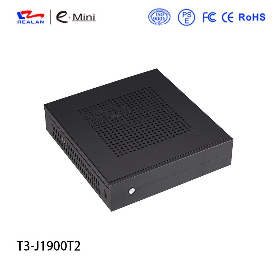Mini pc barebone pc nic dual de escritorio con procesador intel j1900 quad core