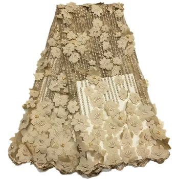 2019 African Lace High Quality 3D Fabric African Lace Fabric 2019 High Quality Lace Gold Lace Trimmings For Sewing JL104