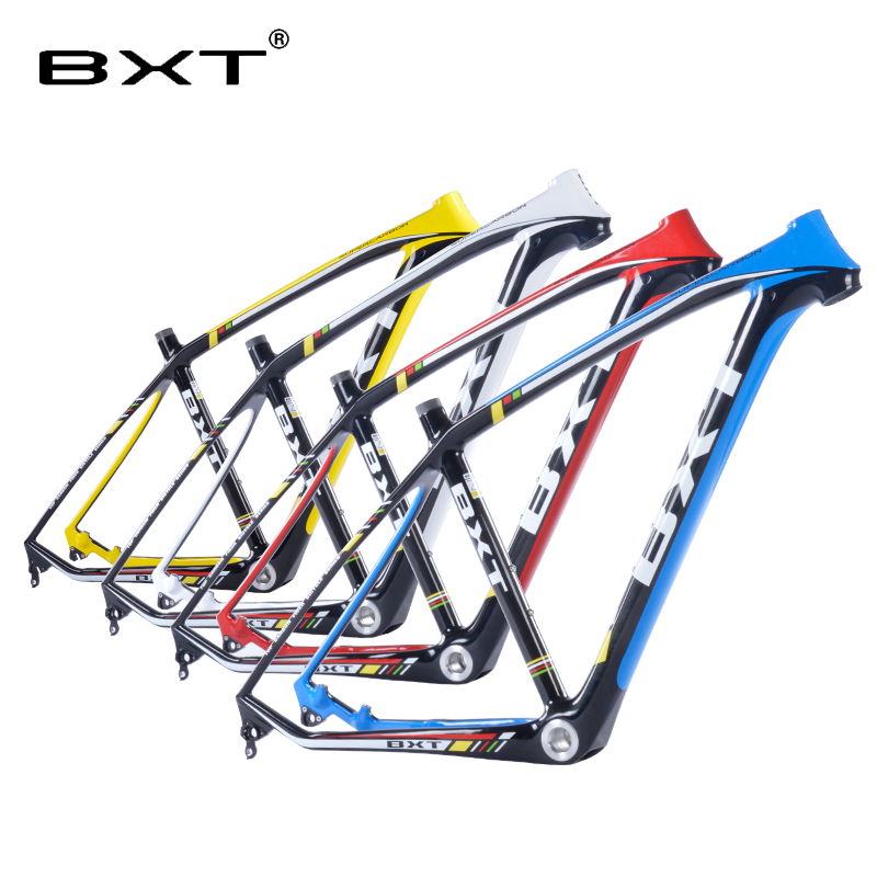 2018 marque new BXT vtt cadre en carbone 29er 3 k vtt cadre 17.5 ''19'' bicicletas vtt 29 livraison gratuite