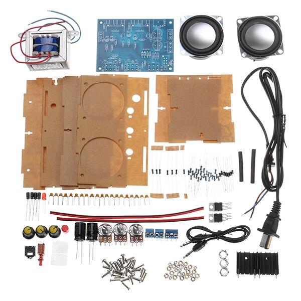 Petit amplificateur deux canaux haut-parleur Audio Kit TDA2030 Mini électronique bricolage Production pièces Module d'assemblage
