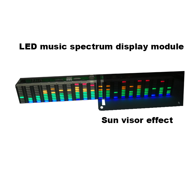 Colorful LED Music Spectrum Display Analyzer 20 Segments 10 Levels MP3 PC Amplifier Audio Level Indicator Music