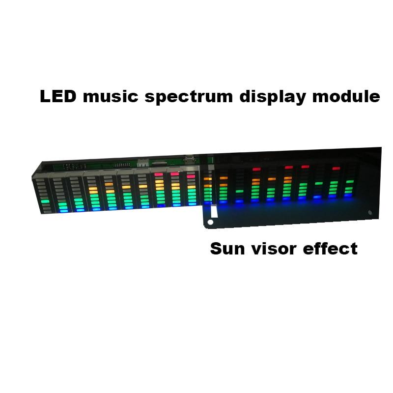 Colorful LED Music Spectrum Display Analyzer 20 Segments 10 Levels MP3 PC Amplifier Audio Level Indicator Music