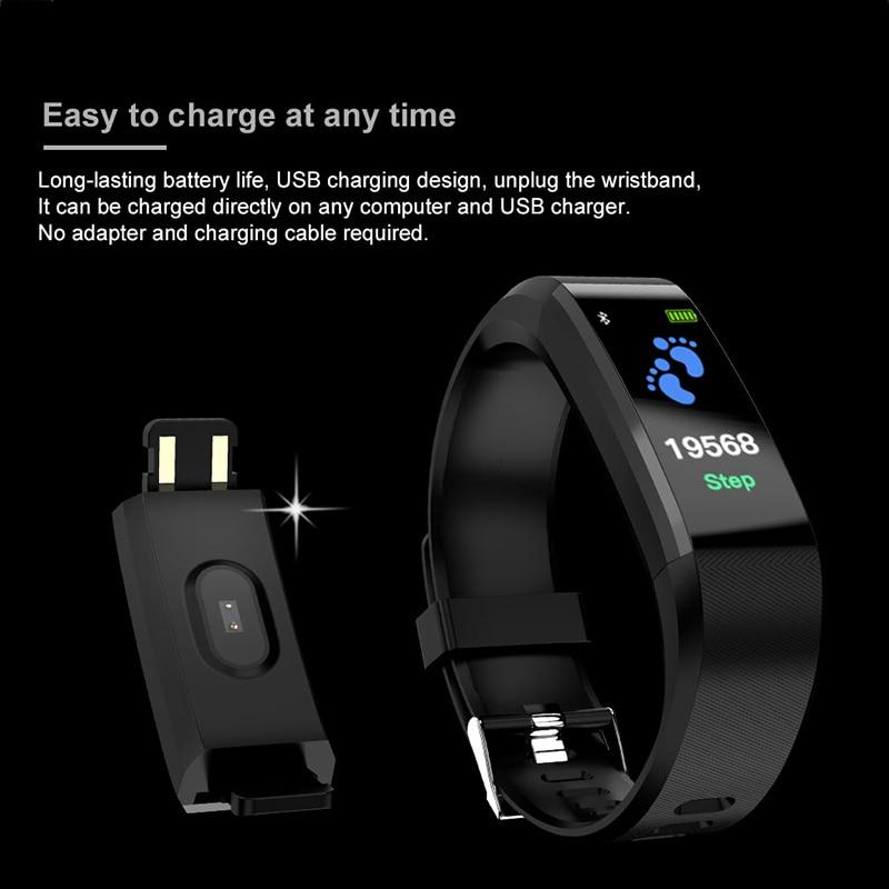 BINSSAW 2018 reloj inteligente de las mujeres de los hombres reloj de pulsera Deporte Fitness podómetro de presión Relojes LED Smartwatch