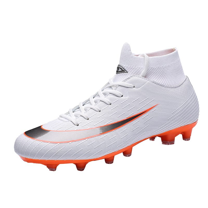 0e62b218b High Top Soccer Shoes Lake Blue White Man Football Sneakers Spring Autumn  Football Turf Cleats Lightweight Shoes Spikes Men-in Soccer Shoes from  Sports ...