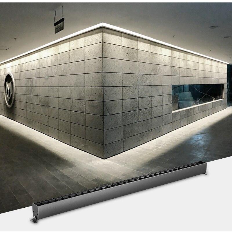 SCON 80 CM 20 W/25 W lampe de ligne linéaire OSRAM montée en surface gris fer barre de hall d'hôtel moderne projecteur 4000 k et lumière polarisée