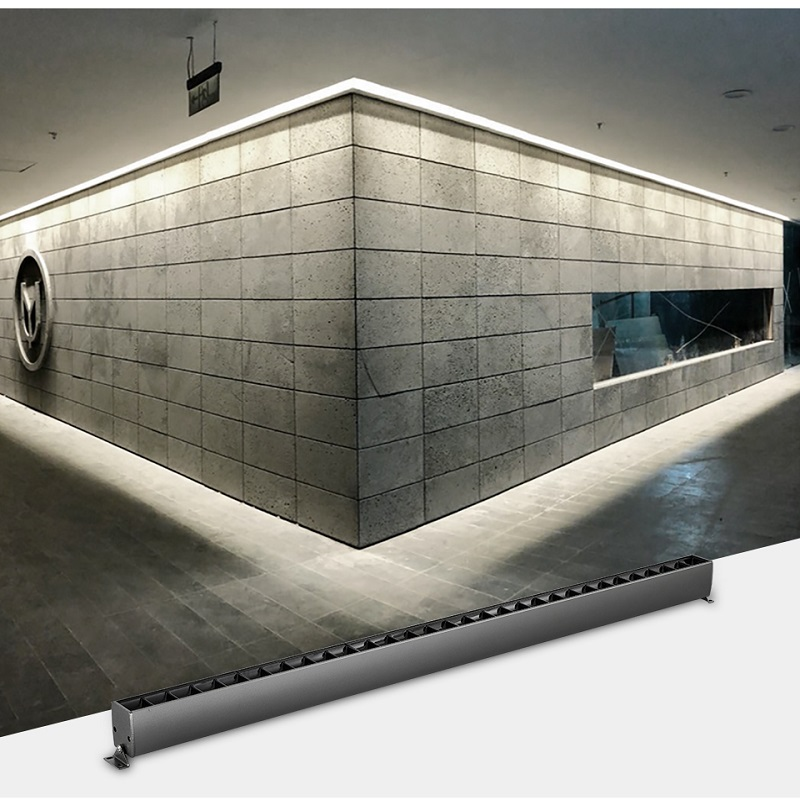 SCON <font><b>80CM</b></font> 20W/25W surface mounted OSRAM linear line lamp iron grey modern hotel lobby bar 4000k Spotlight and Polarized light image