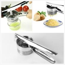 1 pcs New Stainless Steel Vegetable Fruit Masher Potato Ricer Puree Noodle Juice Maker Garlic Presses Kitchen Gadget Tool