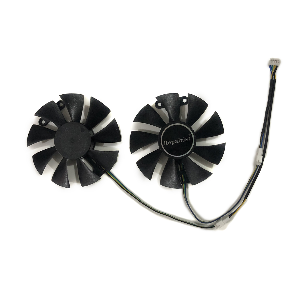 2pcs/set Geforce GTX950 GTX960 GPU Graphics Cards Cooler VGA <font><b>Fan</b></font> For <font><b>Zotac</b></font> <font><b>GTX</b></font> 950/<font><b>960</b></font> AMP Video Card As Replacement image