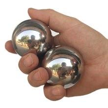 Pelota de hierro pulida para hacer ejercicio, pelota de masaje de balonmano para el cuidado de la salud, 40mm/520g 45mm/720g, 2 uds.