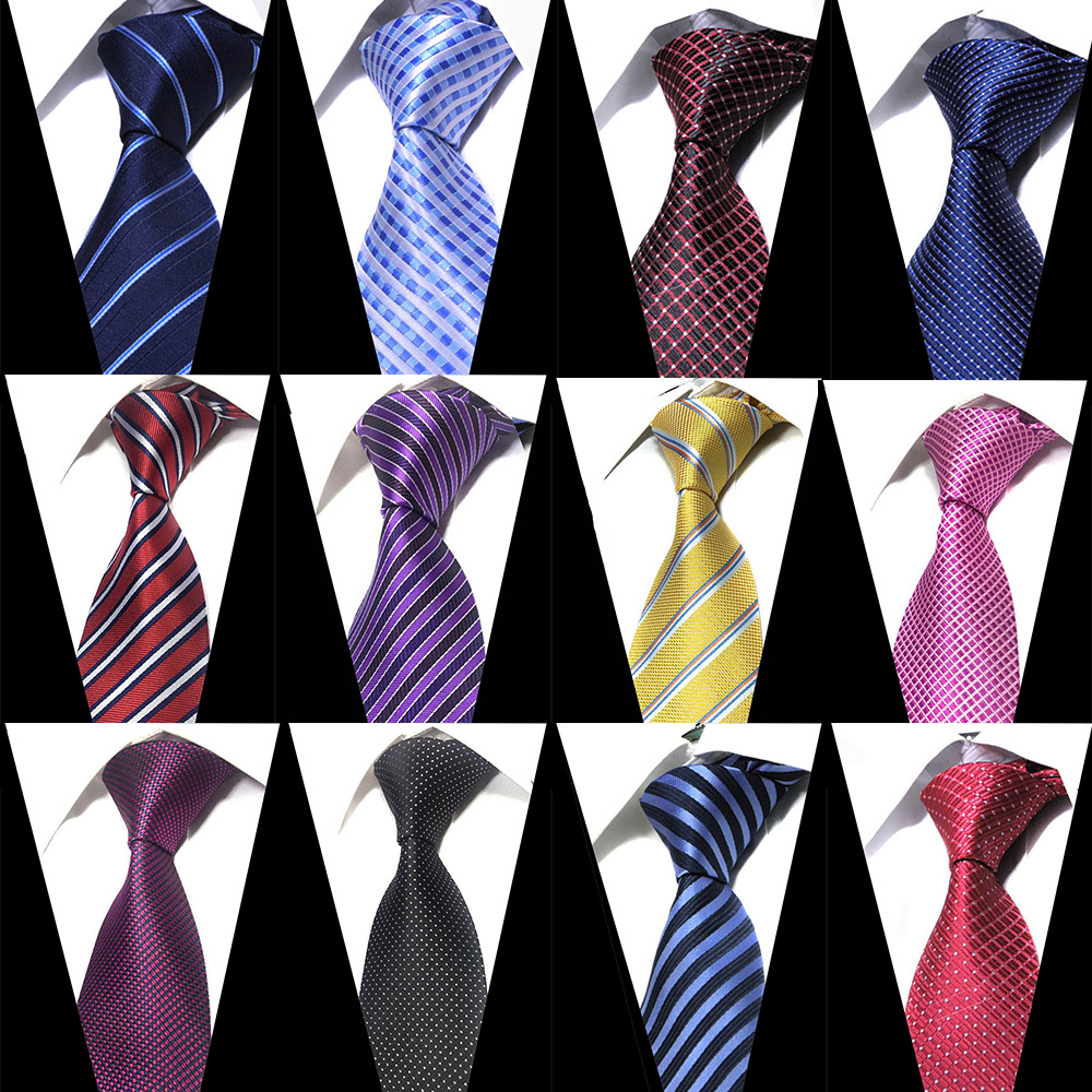 Mens  Ties Black Necktie Clothing Accessories Suit Wedding Party Striped Ties For Men Fashion Gifts For Men Jacquard Silk Tie