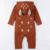 Roupas grossas de inverno bebê meninos meninas rompers roupas padrão animal do bebê recém-nascido roupas macacão para crianças