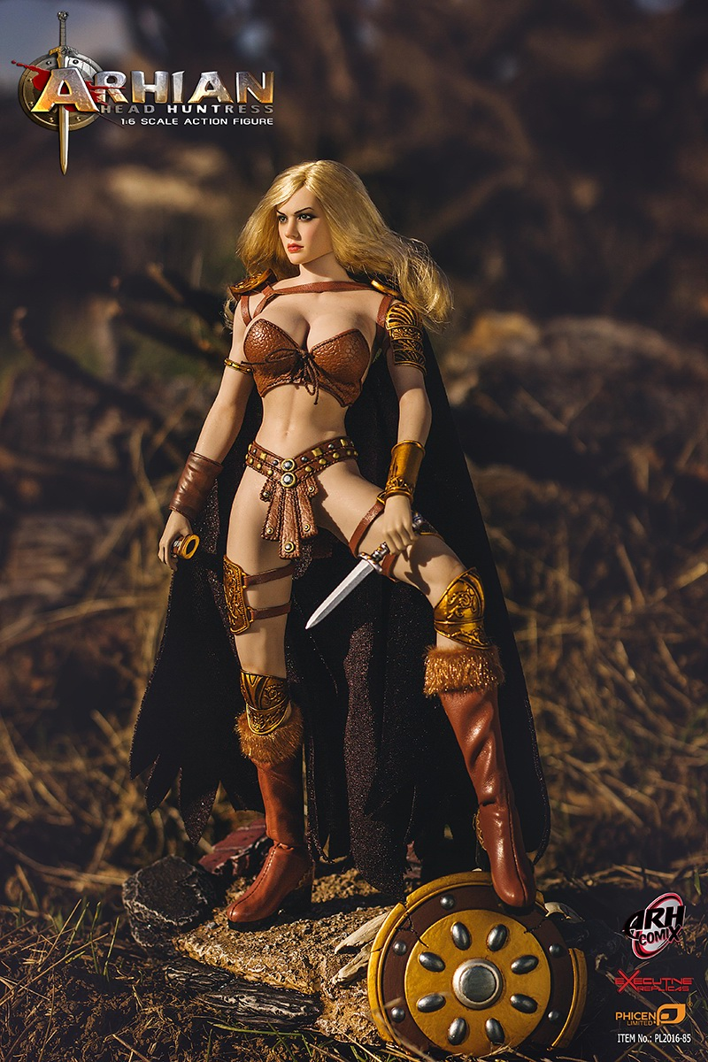 1/6th scale Female figure doll  Collectible model toy Arhian Head Huntress warrior Sexy Seamless body 12 Action figure doll 1 6 scale female figure doll sexy girl steam girl emily 12 action figures doll collectible figure model toy gift