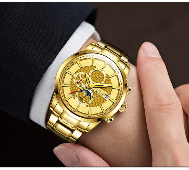 NESUN Luxury Brand Swiss Watch Multifunctional Display Automatic Self-Winding 4