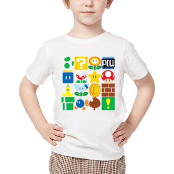 T-shirts Enfants Manches Courtes Items Super Mario