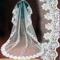 2011 New Hot Style Lace Edge Design Long Wedding Veils